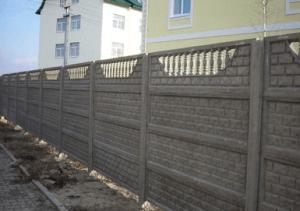 Декоративное бетонное ограждение