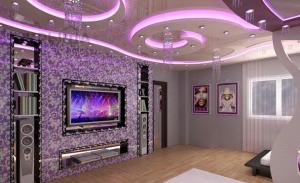 Дизайн двухуровневого потолка