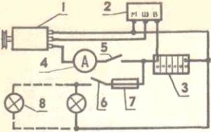 Общая схема подключения гидрогенератора