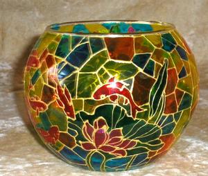 Витражная ваза