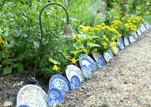 Красивые заборчики для цветника своими руками