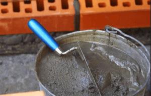 Для дымохода используют цементный раствор
