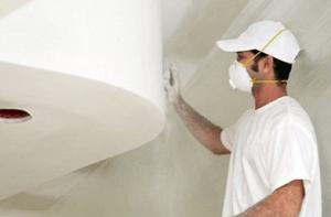 Шпаклевание потолка необычной формы
