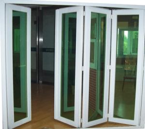 Стеклянные двери гармошкой