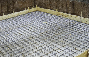 Плитный армированный фундамент