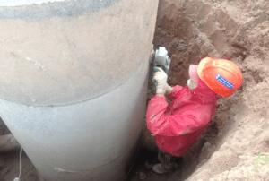 Герметизация стыков чугунных труб