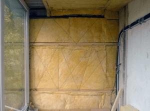 Минеральная вата для утепления балкона