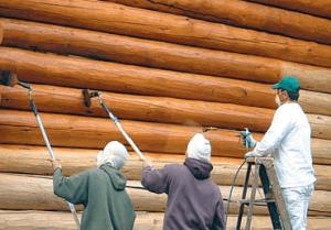Процесс обработки древесины