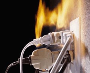 Бытовая техника может стать причиной пожара