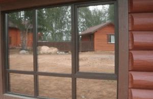 Тонированные окна на даче