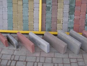 Виды бордюров и тротуарной плитки