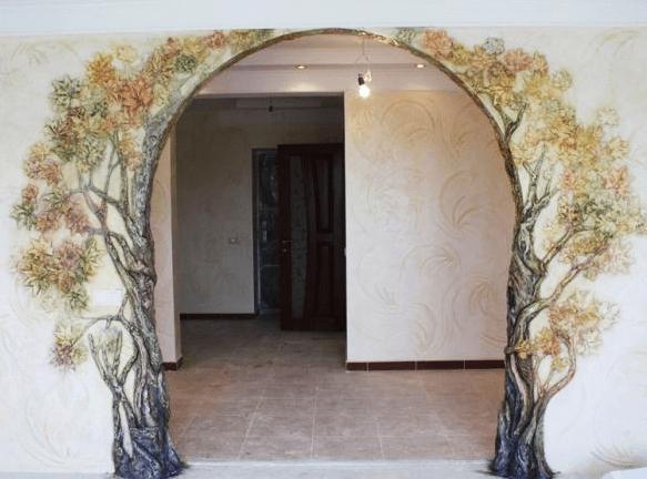 Декорация арок в квартире своими руками
