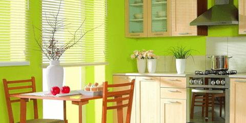 Моющаяся краска в интерьере кухни