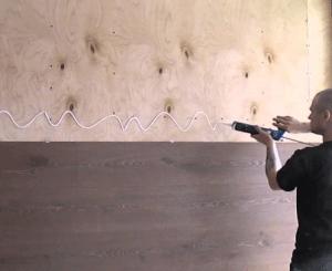 Ламинат на обрешетку с помощью жидких гвоздей