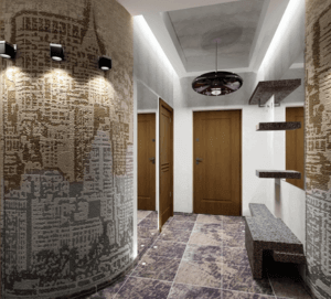 Обои в коридор: дизайн, правильный выбор и правильное комбинирование с другими строительными материалами