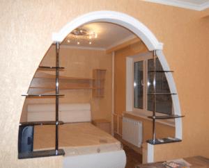 Классическая арка между кухней и гостиной: тонкости изготовления и установки