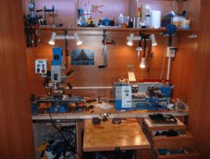 Мини-мастерская с подсветкой