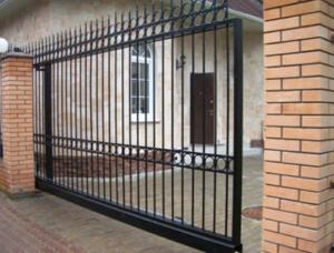 Откатные сварные ворота