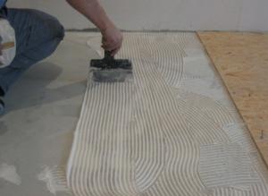 Укладка ОСБ-плиты на бетонное основание