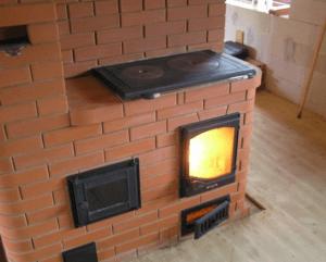 Функциональная печь на даче