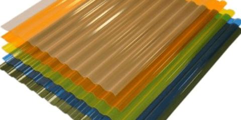 Прозрачный шифер из акрила