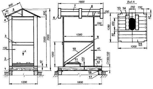 Схема уличного туалета