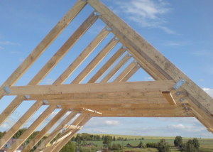Стропильная система двускатной крыши