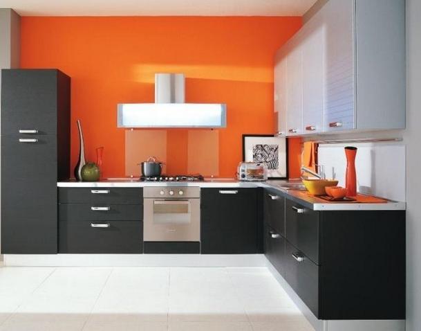 Кухни мебель цвет черно белый