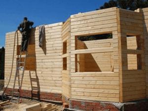 Возведение стен из бруса