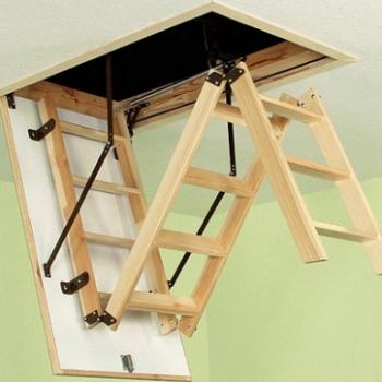 Складные чердачные лестницы своими руками: просто и эффективно