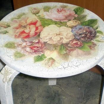 Декупаж кухонной мебели: интересный дизайн своими руками