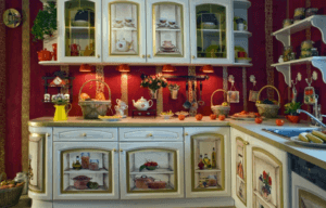 Кухня в стиле Прованс с декупажем