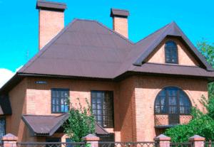 Ондулин на сложной крыше