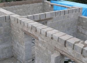 Возведение стен из пенобетона