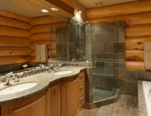 Кафельный пол в деревянном доме