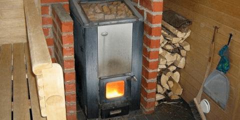Железная печь в русской бане