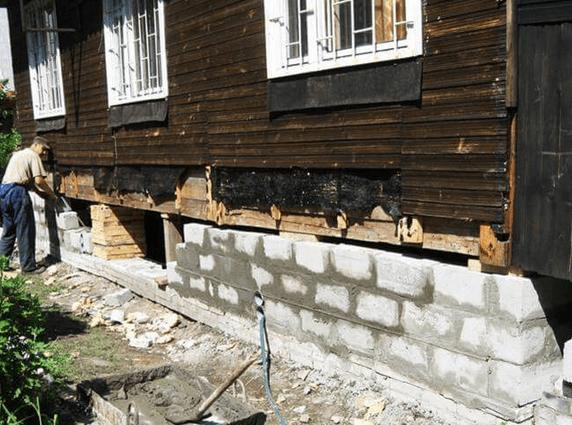 Как подлить фундамент под дом