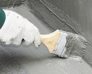 Обработка гидроизолирующим составом