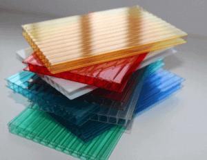 Различные оттенки сотового поликарбоната