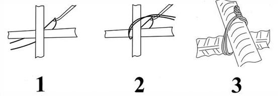 Способы вязки арматуры