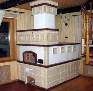 Облицованная печь