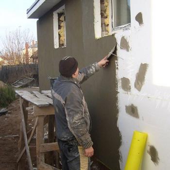 Правильная фасадная штукатурка по пенопласту, особенности материалов