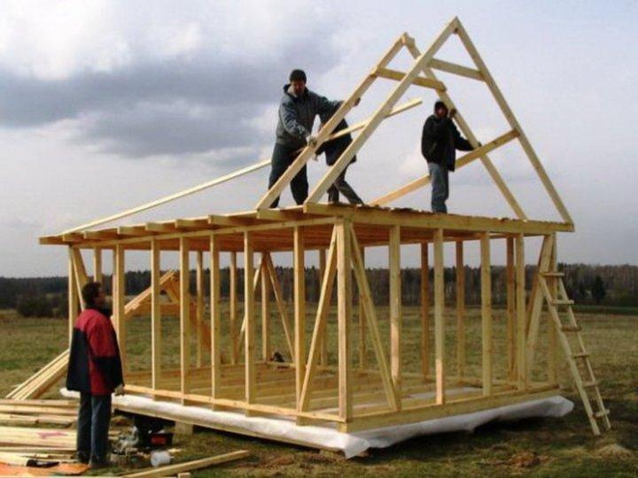 Дом деревянный каркасный своими руками