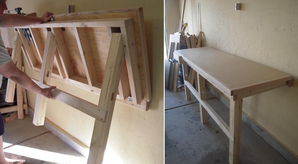 Как сделать стол откидной стенного крепежа своими руками.