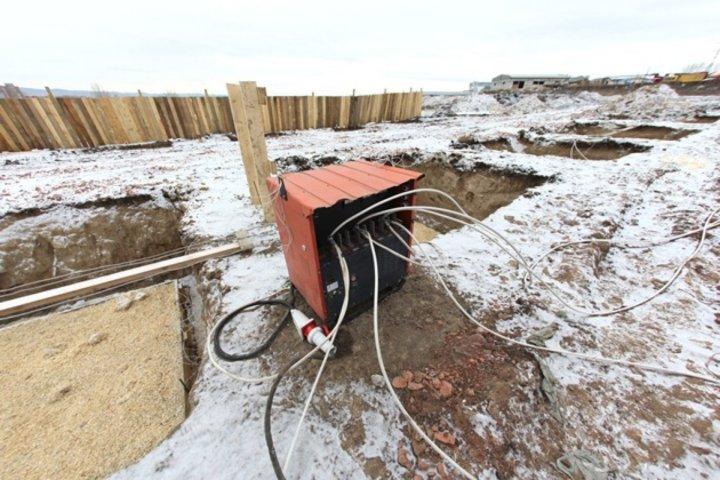 Прогрев бетона зимой