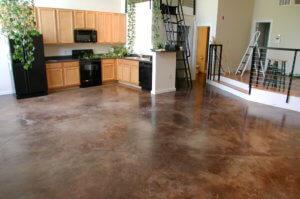 Декоративный бетон на кухне