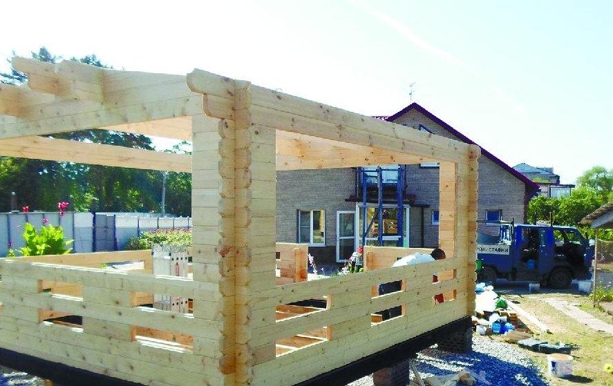 Строительство деревянной беседки с мангалом своими руками пошагово 33