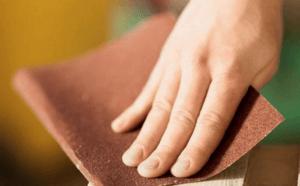 Шкурение деревянных частей