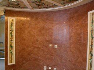 Венецианская  штукатурка на стенах