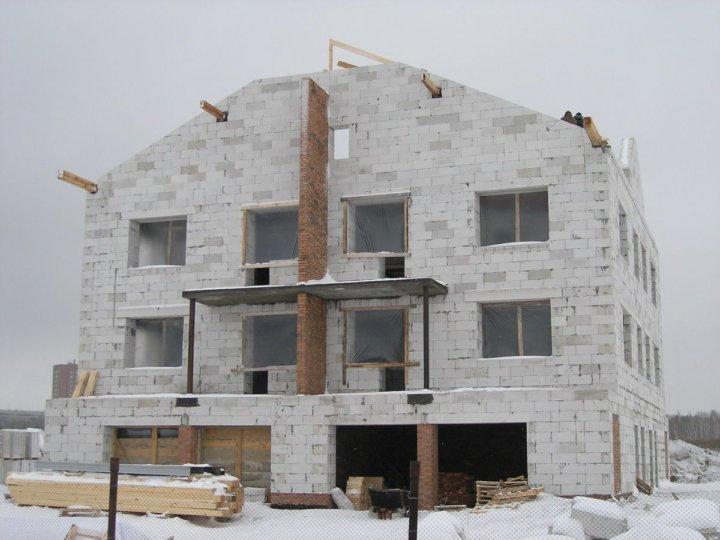 Зимнее строительство из газобетонных блоков